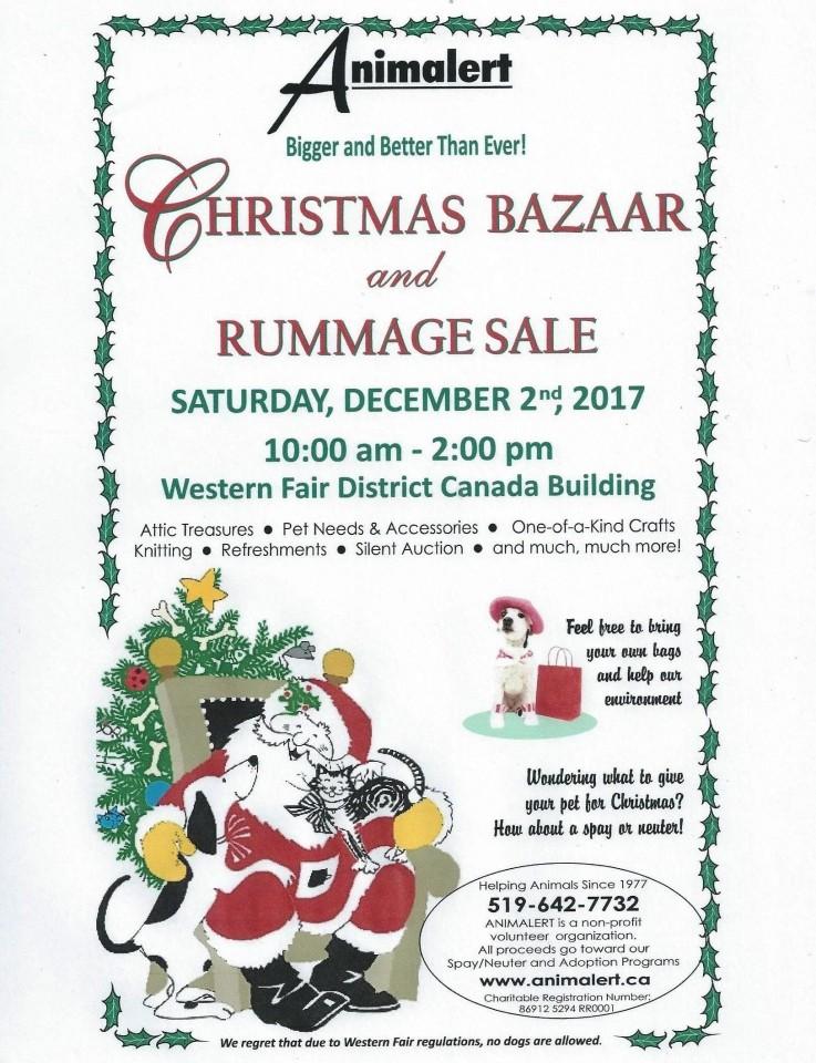 Animalert's Annual Christmas Bazaar